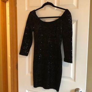 NWOT sequin/velvet cocktail evening dress